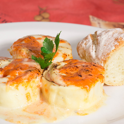 Rondelli de Mozzarella Congelado e Manjericão