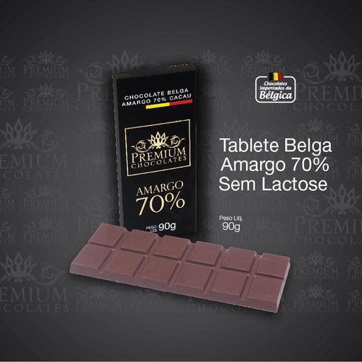Tablete Belga Amargo 70% Cacau - 90g