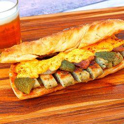 Sanduíche de Frango e Bacon