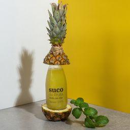 Suco orgânico de abacaxi com hortelã 300ml