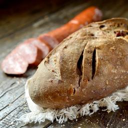 Pão de Calabresa, Vinho Tinto e Nozes - Metade