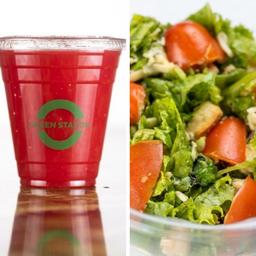 Salada + bebida