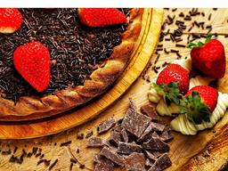 Broto Morango com Chocolate