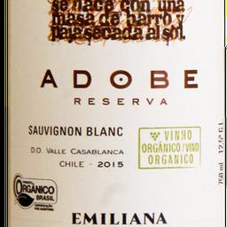 Vinho Adobe Orgâncio Sauvignon Blanc 750ml