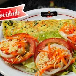 Omelete Chicken Salada