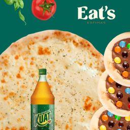 Combo Pizza Mussarela com 6 Esfihas Doces
