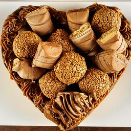 Coração de Chocolate Gourmet Recheado - Kinder Bueno 600g