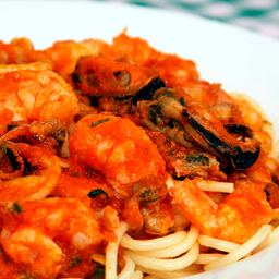Spaghetti la marinara di frutti di mare ( individual )