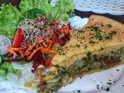 Torta Veg de Brócolis com Tomate Seco.