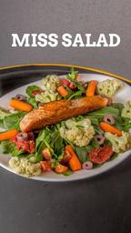 Miss salad (acompanha molho c/ cebola roxa, orégano e vinagre ba