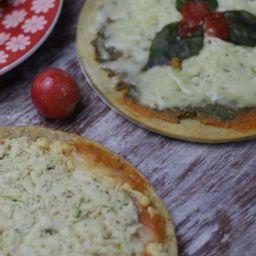 Pizza Lowcarb Frango + Pizza Lowcarb Manjericão