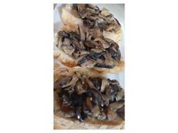 Brusqueta ao Mix de Cogumelos
