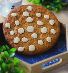 Cookie Gigante De Amêndoas Com Chocolate Branco