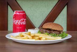 Hambúrguer Cervejeiro E Batatas Fritas E Coca-Cola - 350ml