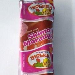 Skimo Choco Morango - Sorvete No Palito