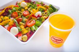 Salada Pequena -  250g - Até 8 Adicionais + Suco natural 300ml