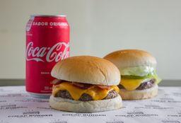 Combo 2 Cheap Burger e Refrigerante - 350ml