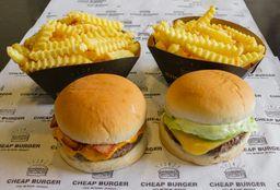 Combo 2 Burgers e 2 Fritas