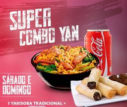 Yakisoba 500g  + Coca 350ml + Rolinho