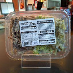 Maminha desfiada com brócolis congelado