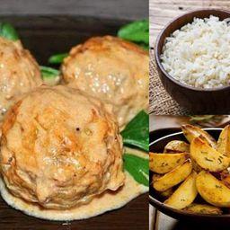Tefteli: almondegas de frango (prato exe