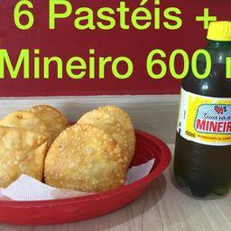 Combo 6 Pasteis e 1 Mineiro