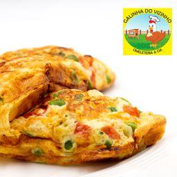 Omelete de Carne Moida e Muçarela