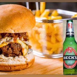 Bistro Burger + Beck's + Batata Frita