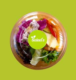 Monte seu Bowl - 4 Saladas e Proteína