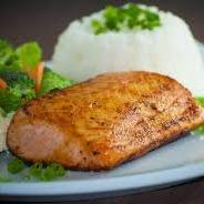 Teppan de salmão