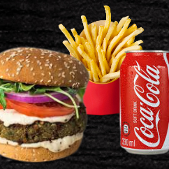 Hambúrguer Vegano de Falafel Completo
