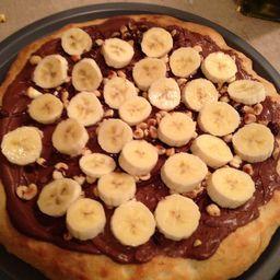 Pizza de Nutella com Banana