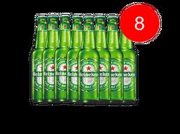 8 Und. Cerveja Heineken Longa Neck 330 mL