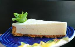 Fatia de Torta de Limão com Logurte