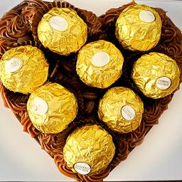 Coração de Chocolate Gourmet Recheado - Ferrero Rocher 600g