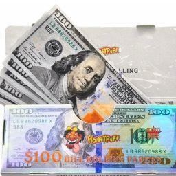 Seda Nota de Cem Dólares Picado