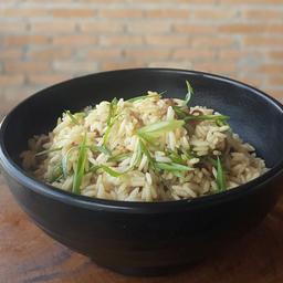Mussroom Rice & Homemade Bacon