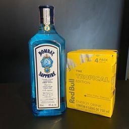 Combo de Bombay Sapphire 750ml Redbull