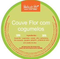 Sopa de couve flor com cogumelos
