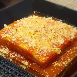 Lasanha de presunto e queijo
