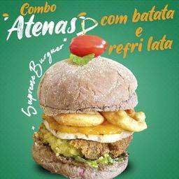Atenas Combo Hambúrguer com Batata e Suco