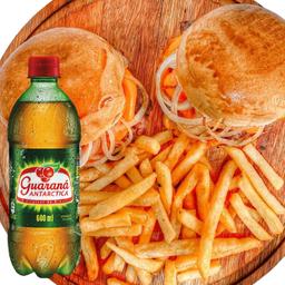 Combo 2 Burger Cheddar e Guaraná 600ml