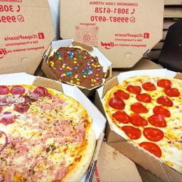 2 Pizzas Grandes com Pizza Brotinho Doce