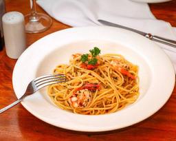Spaghetti con Gamberi, Peperoncino