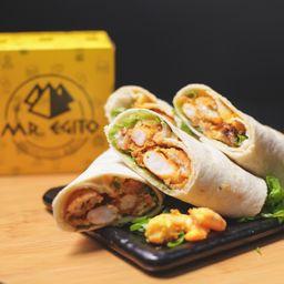 Camarão do Chef Sandwich- Shrimp Sandwich -servidos 2 Wraps