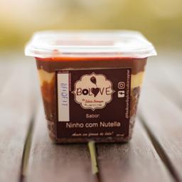 Bolo de Pote de Ninho com Nutella - 250ml