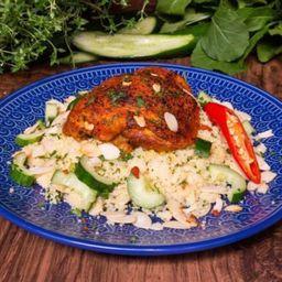 Chicken Tandoori com Couscous Marroquino