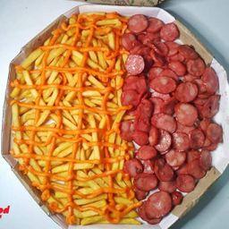 Fritas Calabresa /cheddar na Cx Pizza