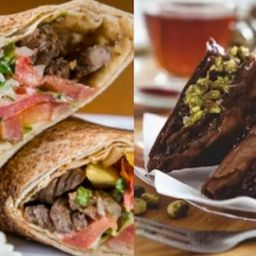 Combo Libanês | Kebab + Doce + Bebida