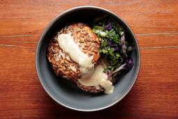 Bolinho de batata e cogumelos